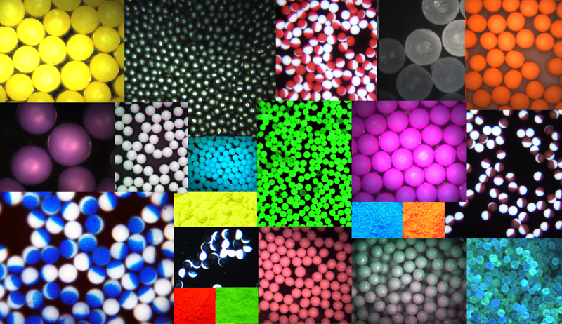 NIST-traceable microspheres, particle size standards, polyethylene spheres, glass microspheres, bond-line spacers.