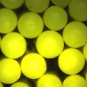 Fluorescent yellow spheres. Neutrally-buoyant microspheres for flow visualization.