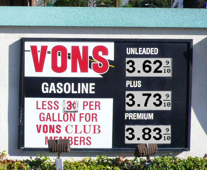 Changeable Reflective Gas Station Signs - Outdoor Reflective E-paper Displays