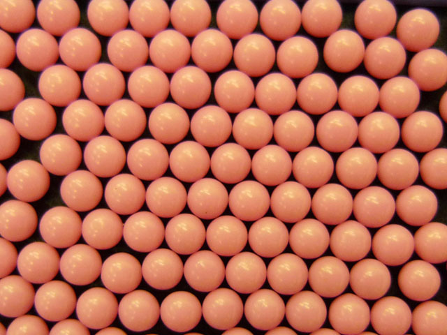 Pink Cellulose Acetate Polymer Spheres Density -1.3g/cc - Particle Diameters 2.9mm