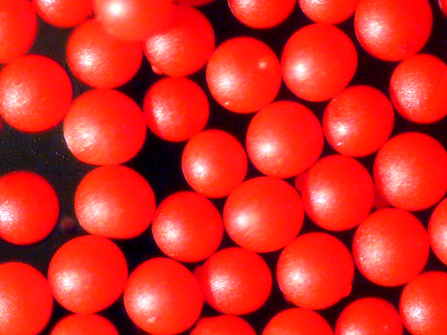 Red Polyethylene Microspheres Density 1.09g/cc<br>Bright Red Polymer Spherical Microbeads