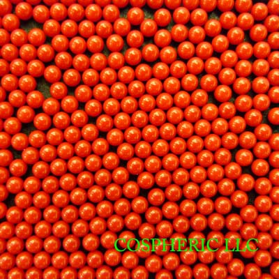Red Cellulose Acetate Polymer Spheres Density -1.3g/cc - 1.0mm and 3.00mm<br>Other Sizes and Colors Available by Request