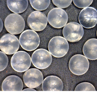 Solid Soda Lime Glass Mixing Spheres 2.55g/cc  - Various sizes from 1.5mm to 7.1mm mixing media, stiring spheres, high roundness, particle, beads, spherical,
