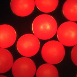 Red Polyethylene Microspheres Density 1.065g/cc<br>Bright Red Polymer Spherical Microparticles