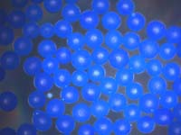 Fluorescent Blue Polyethylene Polymer Microspheres, Particles, Beads Density 1.13g/cc