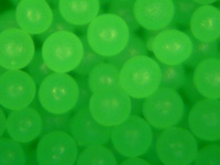 Fluorescent Green Polyethylene Microspheres Bright Green Polymer Beads Density 1.00g/cc - Neurtrally Buyoant for Aqueous Solutions